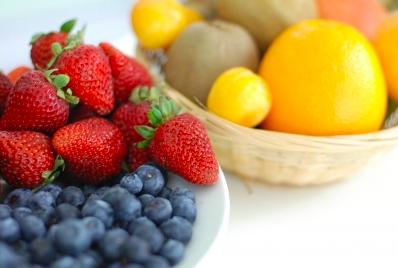 Strawberry orange blueberry